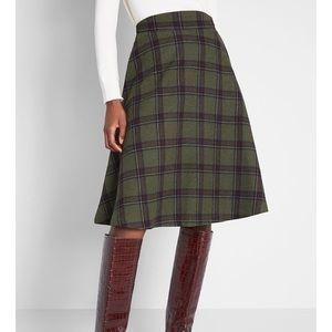 Green Plaid Circle Skirt